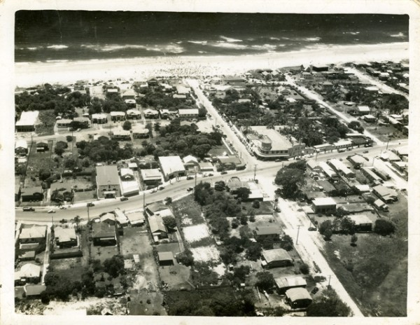 Aerial view over Surfers Paradise circa 1940s Photographer unknown