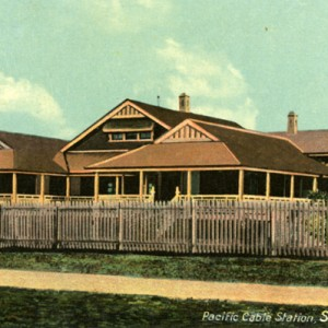 Pacific Cable Station postard circa 1920s Photographer unknown