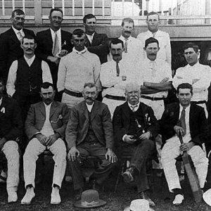 Alberton Cricket Club, circa 1907-1910. Photographer unknown