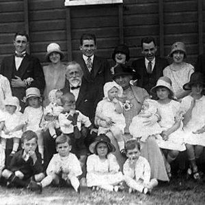 Mr and Mrs John Siganto with their grandchildren, Upper Coomera, 1926. Photographer unidentified