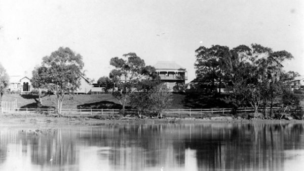 Former Governor's residence on the Nerang River, Southport, circa 1910s. Photographer unidentified